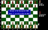 "The Fidelity Chessmaster 2100 DOS Game starts with ""Welcome"" message"