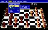 The Fidelity Chessmaster 2100 DOS Board may be rotated for appropriate positions of the opposite sides and moves may be taken back...
