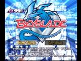 Beyblade PlayStation Main menu