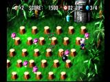 Bomberman World PlayStation Your goal is collect the various crystals in each level.