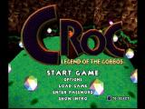 Croc: Legend of the Gobbos PlayStation Main menu