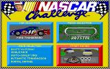 Bill Elliott's NASCAR Challenge DOS Main menu for BENC - note settings box