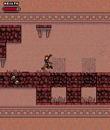 Tomb Raider: Quest for Cinnabar J2ME Jump over spikes to avoid taking damage from them.