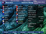 Player Manager 98/99 Windows The managing menu