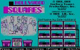 Hollywood Squares DOS Title Screen and Main Menu