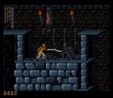 Prince of Persia SNES Confronting with a skeleton
