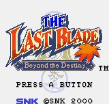 The Last Blade: Beyond the Destiny Neo Geo Pocket Color Title screen.