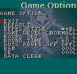 The Last Blade: Beyond the Destiny Neo Geo Pocket Color Options menu.
