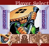 The Last Blade: Beyond the Destiny Neo Geo Pocket Color Character selection.