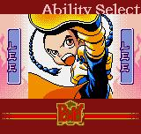 "The Last Blade: Beyond the Destiny Neo Geo Pocket Color Mode ""Ability"" selection."