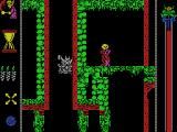 Vampire's Empire MSX Falling down a shaft