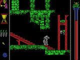Vampire's Empire MSX Who would put a guillotine at the end of a slippery stair?