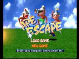 Ape Escape PlayStation Main menu