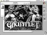 Gauntlet Macintosh Title screen (mono)