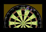 John Lowe's Ultimate Darts Commodore 64 The board in all its glory - this hand scores 41