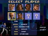Streets of Rage Remake Windows Character selection screen (2006 version)