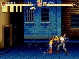 Streets of Rage Remake Windows Skate performs a special attack in the Battle mode (2006 version).