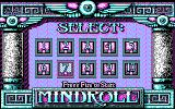 Mind-Roll DOS choose a maze to tackle - CGA