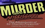 Murder on the Mississippi Commodore 64 The title screen.