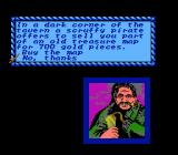 Sid Meier's Pirates! NES That Pirate offers a treasure map.