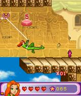 Totally Spies!: The Mobile Game J2ME Sam swings to a nearby platform. (large screen)