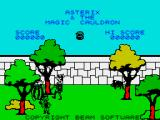 Asterix and the Magic Cauldron ZX Spectrum Title screen