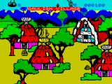 Asterix and the Magic Cauldron ZX Spectrum In the village