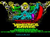 Vampire's Empire ZX Spectrum Loading screen