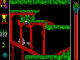 Vampire's Empire ZX Spectrum Falling down the stairs