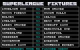 Footballer of the Year 2 Atari ST The battles of Britain