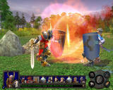 Heroes of Might and Magic V: Hammers of Fate Windows Vindicators have ability to Cleave, increasing their ability to attack those who would dare stand against them.