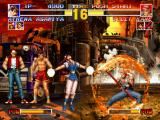 The King of Fighters '95 PlayStation Athena is about to throw her Psycho Ball, then Billy Kane use his DM Flaming Hurricane to stop it!