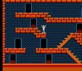 The Bugs Bunny Crazy Castle NES Bugs Bunny gloats as he finishes the level.