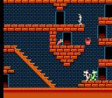The Bugs Bunny Crazy Castle NES Bugs deals with his enemies by dropping heavy objects onto their heads, like the bucket pictured here. One has to assume it was filled with cement.