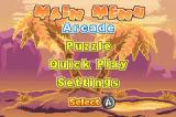 Whac-A-Mole Game Boy Advance Main menu