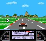 Al Unser Jr. Turbo Racing NES Instrument panel of the car in Japanese version