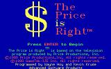 The Price is Right DOS Title screen