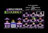 Hollywood Squares Commodore 64 Setup screen - notice the programmers' names among the panel