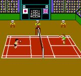 Super Dyna'mix Badminton NES Game start