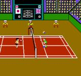 Super Dyna'mix Badminton NES Following the shuttle can be a bit tricky at the first few times