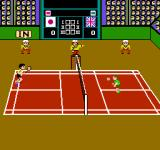 Super Dyna'mix Badminton NES The line referee said it, and the referee agrees