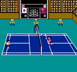 Super Dyna'mix Badminton NES The second court, with alternate colours