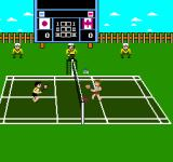 Super Dyna'mix Badminton NES An outdoors court