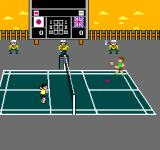 Super Dyna'mix Badminton NES The fourth court