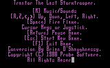 Trantor the Last Stormtrooper DOS The entire game weights in at massive 80 kilobytes, but strangely doesn't include the intro.
