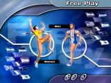 Sergei Bubka's Millennium Games Windows Free play main menu screen. Here you can choose your athlete's nationality and gender.