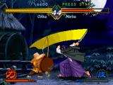 "The Last Blade PlayStation Moriya counterattacks Okina with a sword-slashing move, but the old-timer is about to ""parry"" it..."