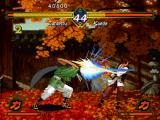 The Last Blade PlayStation Zantetsu hit-attacks Kaede with his Kikou Hou: a short-range energy blast was offensively threw...