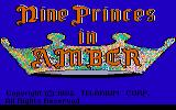 Nine Princes in Amber Atari ST Title screen
