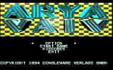 Arya Vaiv Amiga Title screen / Main menu